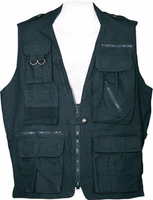 Safari Vest - Black, Small