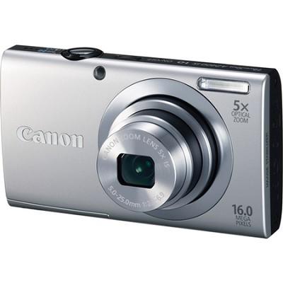 PowerShot A2400 IS 16MP Silver Digital Camera 5x Optical 720p HD - OPEN BOX