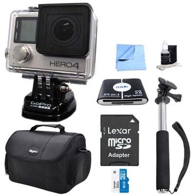 HERO 4 Silver Action Camera All Inclusive Bundle