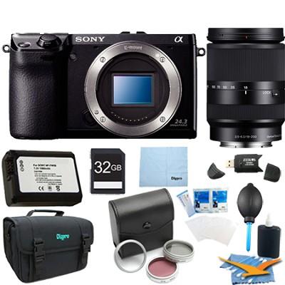 NEX7/B - NEX-7 24.3 MP Camera Body (Black) 32 GB Bundle with 18-200mm Zoom Lens