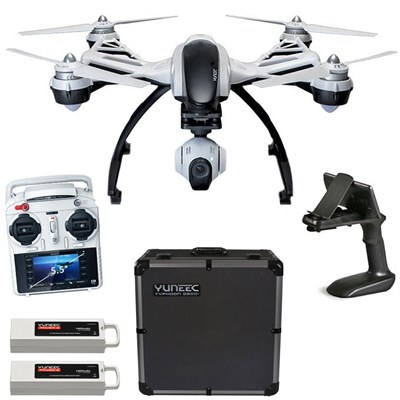 Q500+ Typhoon Quadcopter Drone + 3-Axis Gimbal Camera, Steady Grip, Deluxe Case