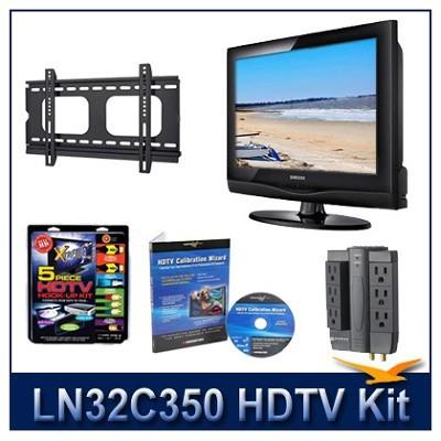 LN32C350 HDTV + Hook-up Kit + Power Protection + Calibration + Flat Mount