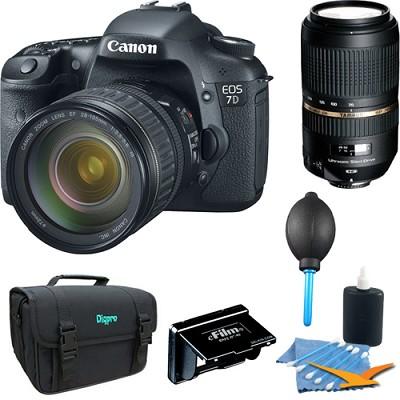 EOS 7D 18 MP CMOS Digital SLR Camera w/ 28-135mm and 70-300mm Lenses