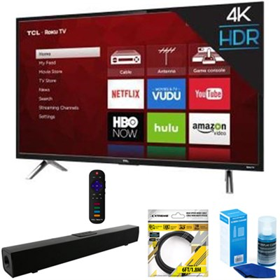55` 4K Ultra HD Roku Smart LED TV 2017 Model + Soundbar Bundles