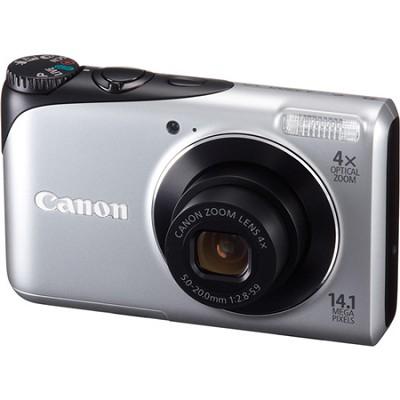 PowerShot A2200 14MP Silver Digital Camera w/ 4x Zoom & 720p HD Video