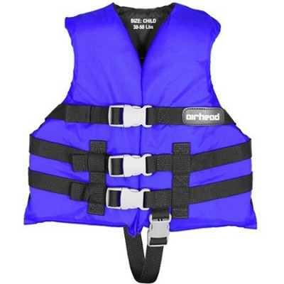 10002-02-A-BL  - Blue Child 3-Belt Universal Life Vest   ( Child 30-50 lbs)