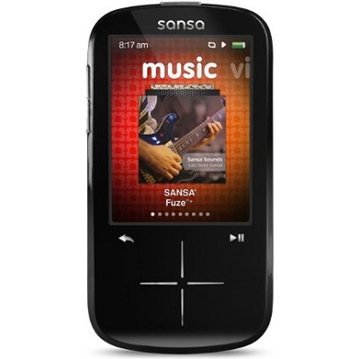 Sansa Fuze+ 8GB Black MP3 MP4 Video Music Player w/ FM Radio