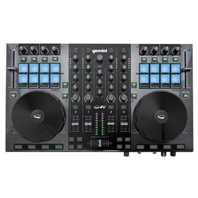 DJ G4V DJ Controller 4 Channel Midi Controller with Soundcard