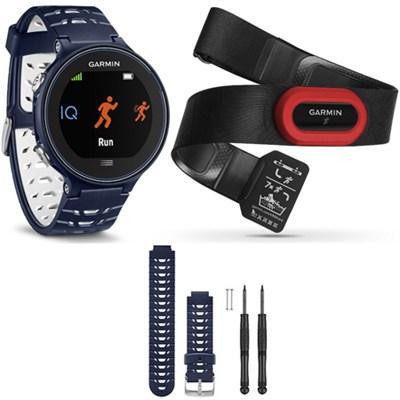 Forerunner 630 GPS Smartwatch w/ HRM-Run - Midnight Blue - Midnight Blue Bundle