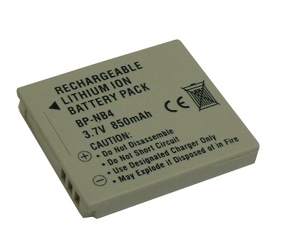 NB-4L 850mAh Lithium Battery for Powershot ELPH 100HS, ELPH 300HS, ELPH 310HS