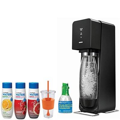 SodaStream Source Home Soda Maker Starter Kit, Black with Soda Maker Bundle