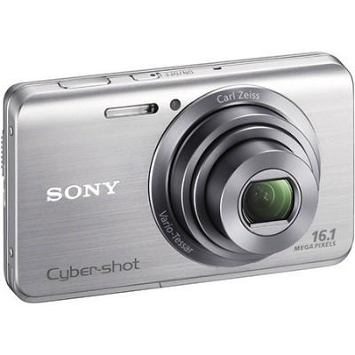Cyber-shot DSC-W650 Silver Compact Digital Camera, 3 inch LCD, HD - OPEN BOX