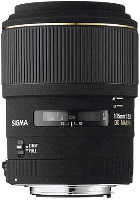 Telephoto 105mm f/2.8 EX DG Macro Autofocus Lens for Canon EOS