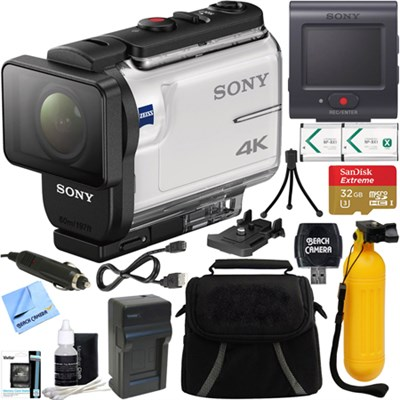 FDR-X3000R 4K Action Camera w/ Live View Remote + 32GB Memory & Accessory Bundle