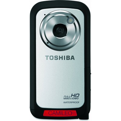 CAMILEO Full HD 1080P Waterproof Camcorder, Silver - OPEN BOX