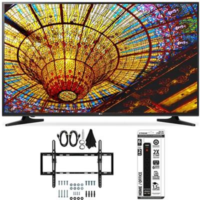 50UH5500 - 50-Inch 4K Ultra HD Smart LED TV w/ webOS 3.0 Tilt Wall Mount Bundle