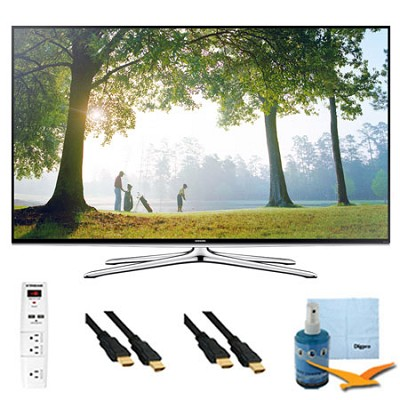 55` 1080p Smart HDTV Clear Motion 240 w/ Wi-Fi Plus Hook-Up Bundle - UN55H6350