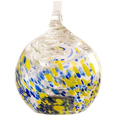GLOW Solar Glass Drop Ylw Blue