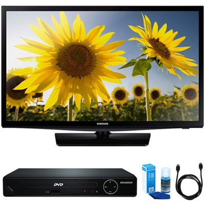 UN28H4500 28-Inch 720p HD Slim LED TV w/ HDMI DVD Player Bundle