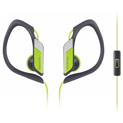 HS34 Sports Clip Earbud Headphones with Mobile Controller, Yellow