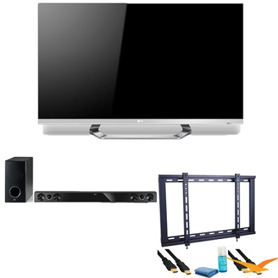 55LM6700 55` Class Cinema 3D 1080p 120Hz LED TV with SmartTV + Soundbar Bundle