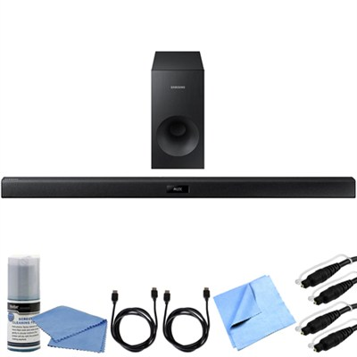 HW-J355  - 2.1 Channel 120 Watt Wired Bluetooth Audio Soundbar Bundle