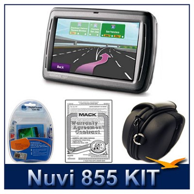 nuvi 855 Portable GPS navigation - Total Peace-of-Mind  Kit