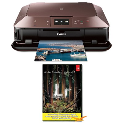 MG7120 Wireless Inkjet Photo All-In-One Printer - Brown w/ Photoshop Lightroom 5