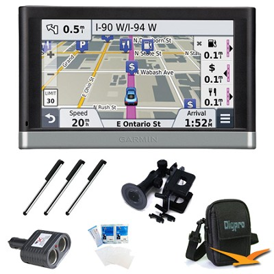 nuvi 2557LMT 5` GPS with Lifetime Maps and Traffic Updates Ultimate Bundle