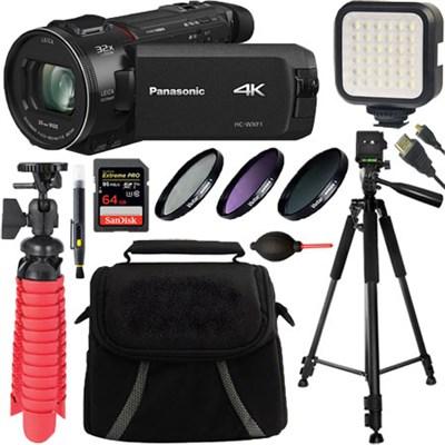 HC-WXF1K 4K Cinema-Like Camcorder w/ 24x LEICA DICOMAR Lens + 64GB Accessory Kit