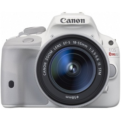 EOS Rebel SL1 Digital SLR Camera with EF-S 18-55mm IS STM Lens - White
