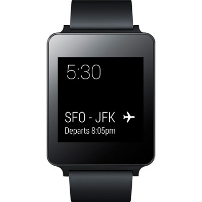 Android Wear Water and Dust Resistant Black Smart G Watch - OPEN BOX