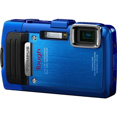 TG-830 iHS STYLUS Tough 16 MP 1080p HD Digital Camera - Blue - REFURBISHED