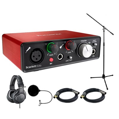 Scarlett Solo USB Audio Interface (2nd Gen) w/ Headphone Bundle