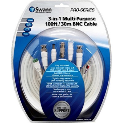 3-in-1 Multi-Purpose 100ft / 30m BNC Cable