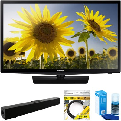 24` 720p HD Slim LED TV Clear Motion Rate 120 + Soundbar Bundles