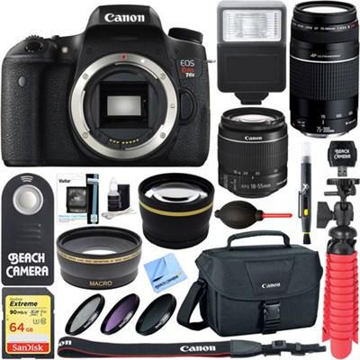 EOS Rebel T6s DSLR Camera w/ EF-S 18-55mm IS STM & 75-300mm Lens + Accessory Kit