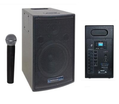 WASP500 8'' Rechargeable Battery Powered PA System with Wireless VHF Microphone
