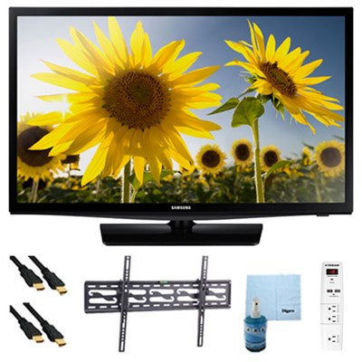 UN24H4000 24-inch 720p HD Slim LED TV Clear Motion Rate 120 Plus Hook-Up Bundle
