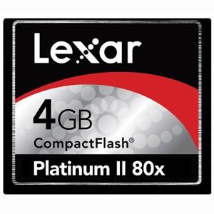 4 GB Platinum II CF Memory Card 80X  LCF4GBBSBNA080