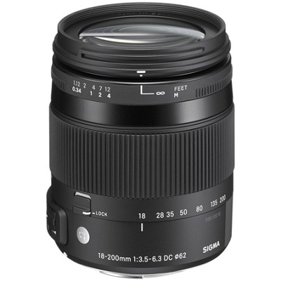 18-200mm F3.5-6.3 DC Macro OS HSM Lens for Sigma SLR's
