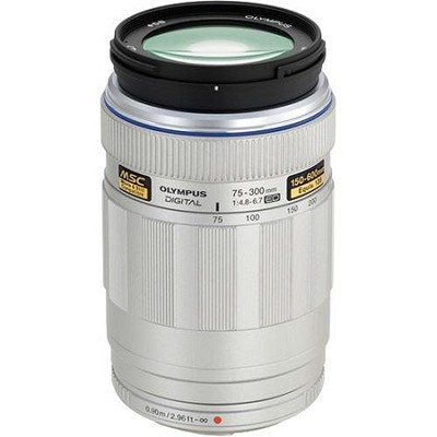 MSC ED M.75-300mm f4.8-6.7 Silver Super Telephoto Zoom Lens