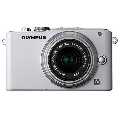E-PL3 White PEN Camera w/14-42mm Lens