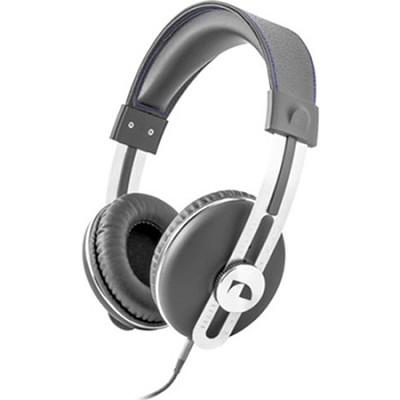 NK2030 Over the Ear Retro Stereo Headphone - Gray w/Blue Thread
