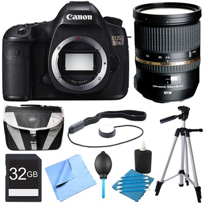 EOS 5DS 50.6MP Digital SLR Camera Pro Lens Bundle