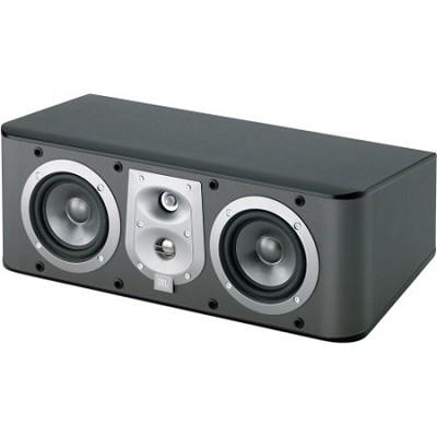 ES25CBK 3-Way, Dual 5 1/4` Center Channel Speaker - Black Ash