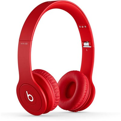 Solo HD On-Ear Headphones with Built-in Mic (Red) - OPEN BOX