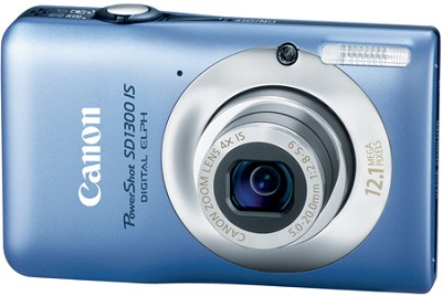 PowerShot SD1300 IS 12MP Digital ELPH Camera with 4X Zoom, 2.7` LCD  (Blue)