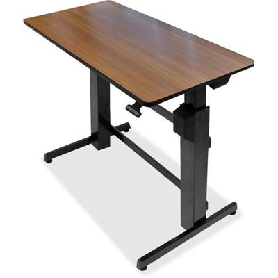WorkFit D Sit Stand Desk in Walnut - 24-271-927