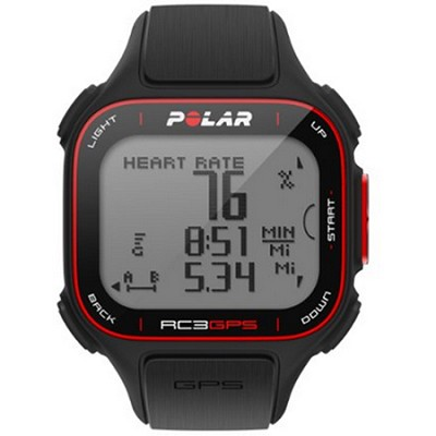 RC3 GPS Watch with Heart Rate Monitor - Black (90048174)